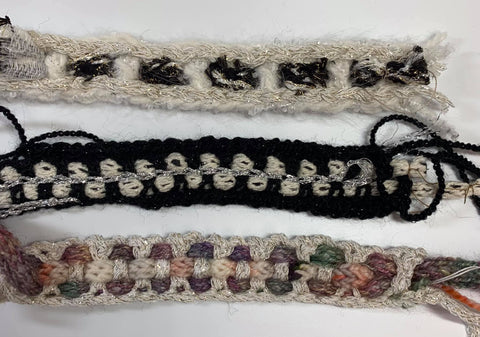 Chanel-style crocheted and braided custom trims by Mary Funt