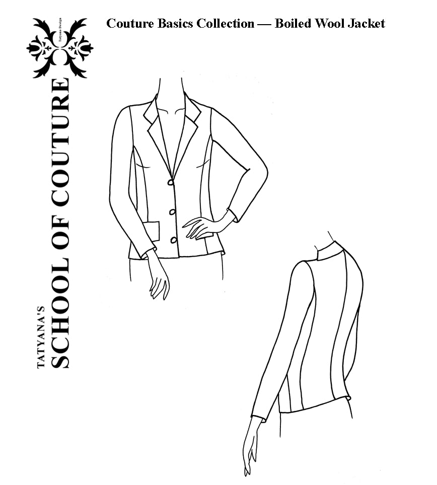 Couture Basics - Boiled Wool Jacket Pattern