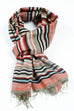 Striped shawl handwoven silk/cotton