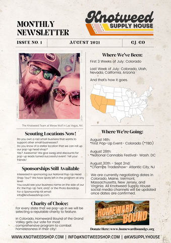 Knotweed Supply House Monthly Newsletter- August