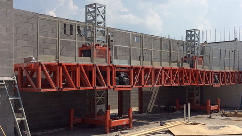 EZ Scaffold Compact Mast Climber Sales and Rental scaffold Rental -Designed for elevator shafts and tight spaces! Hydraulic compact mast scaffold