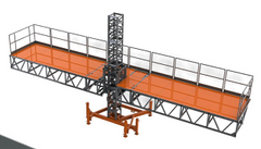 Single Mast climber MODULAR CONFIGURATIONS LIGHTWEIGHT 14,000LB CAPACITY QUICK SET UP GREAT FOR TIGHT & TALL JOBS HEAVY DUTY & HIGH SPEED Scaffold Rentals Aluminum Concrete Forms