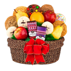 Fresh Fruit & Cookies Basket