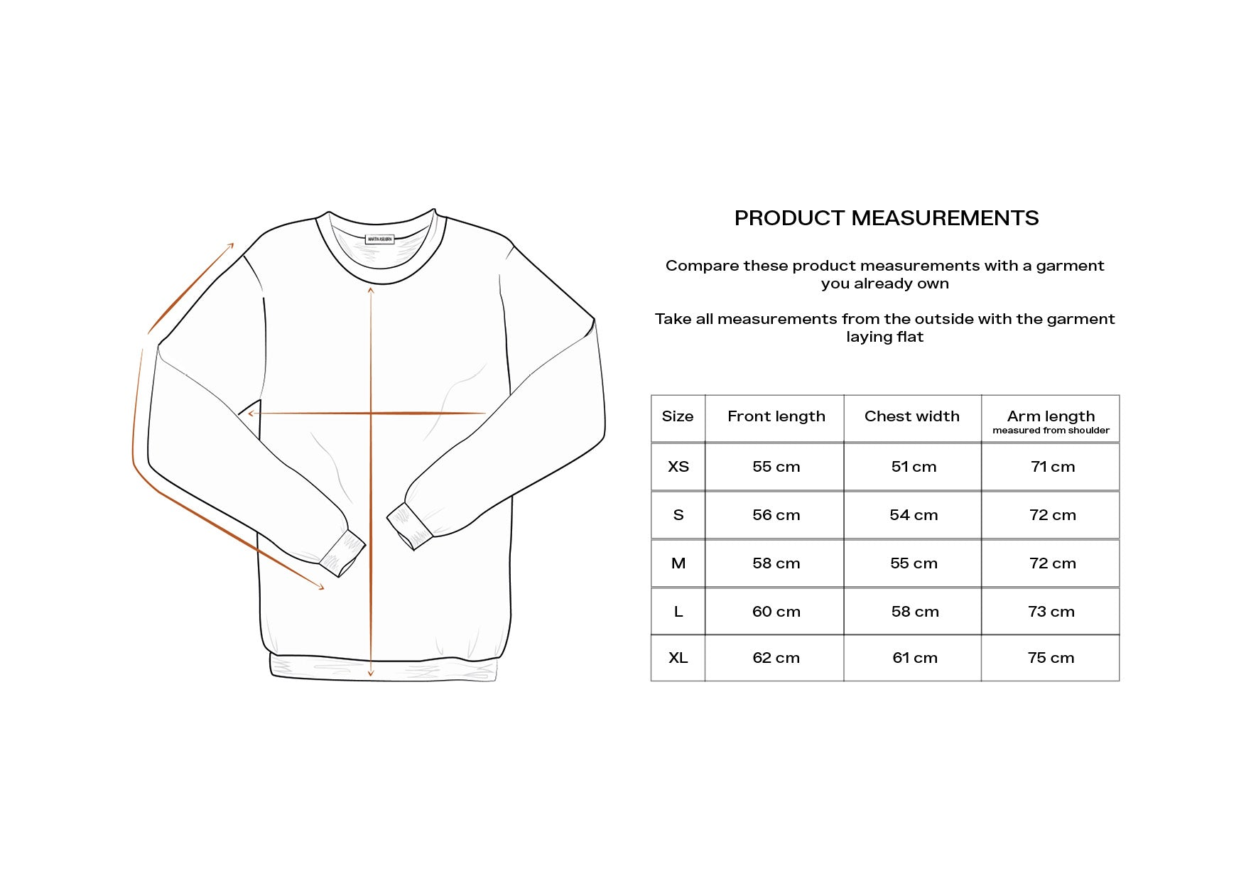 Woody Hoodie / Measurement