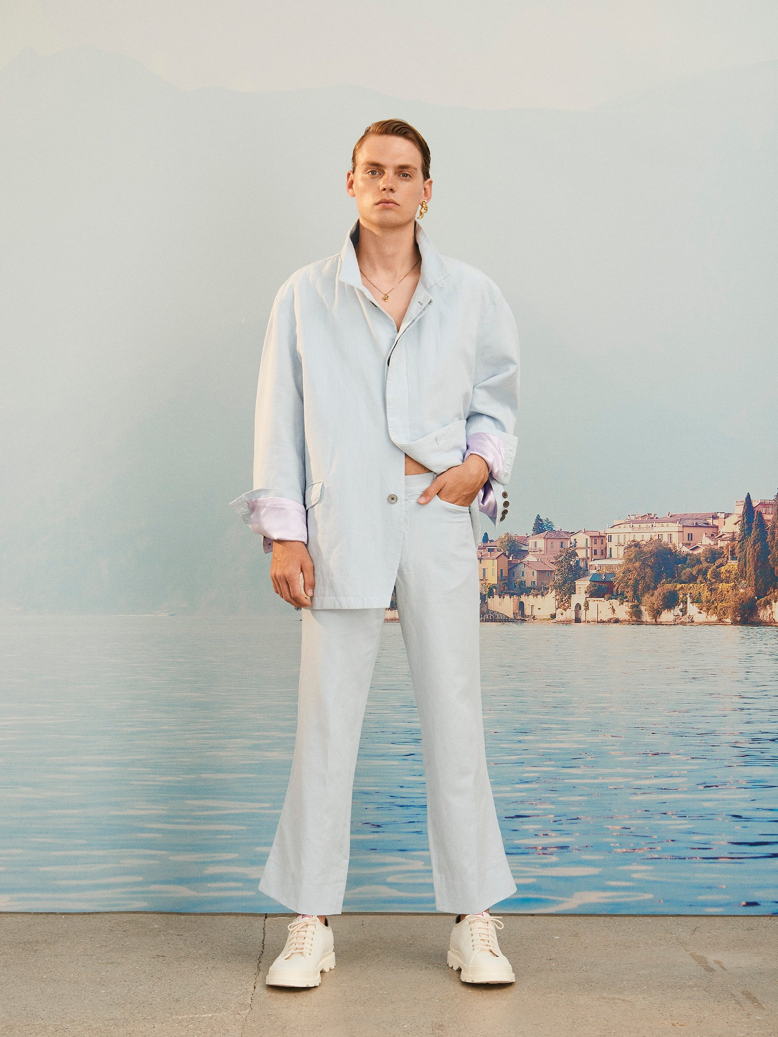 martin Asbjorn ma menswear collection flared trousers ss20 spring20 boring lookbook