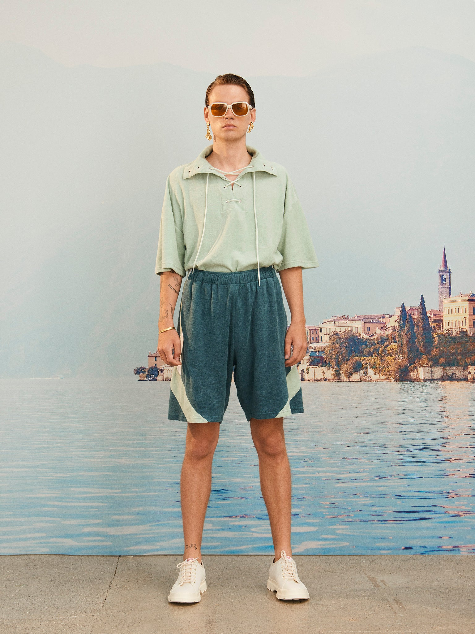 martin asbjorn ma terry cotton short terrycloth menswear paneled ss20 spring20 boring lookbook