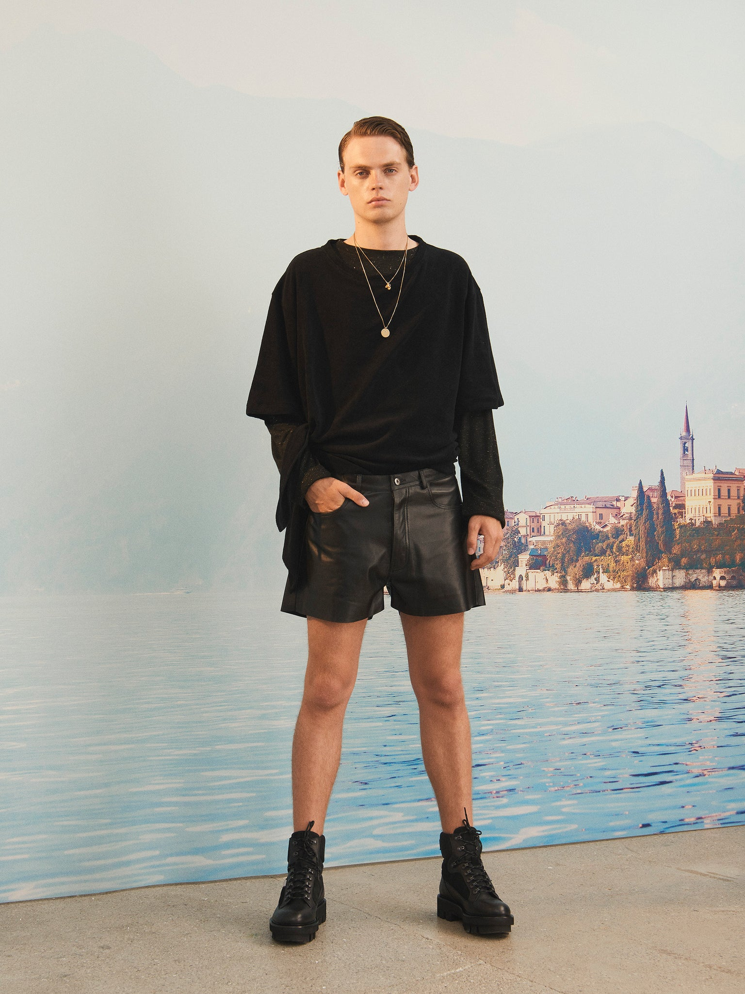 martin Asbjorn ma menswear ss20 spring20 napa leather shorts boring lookbook