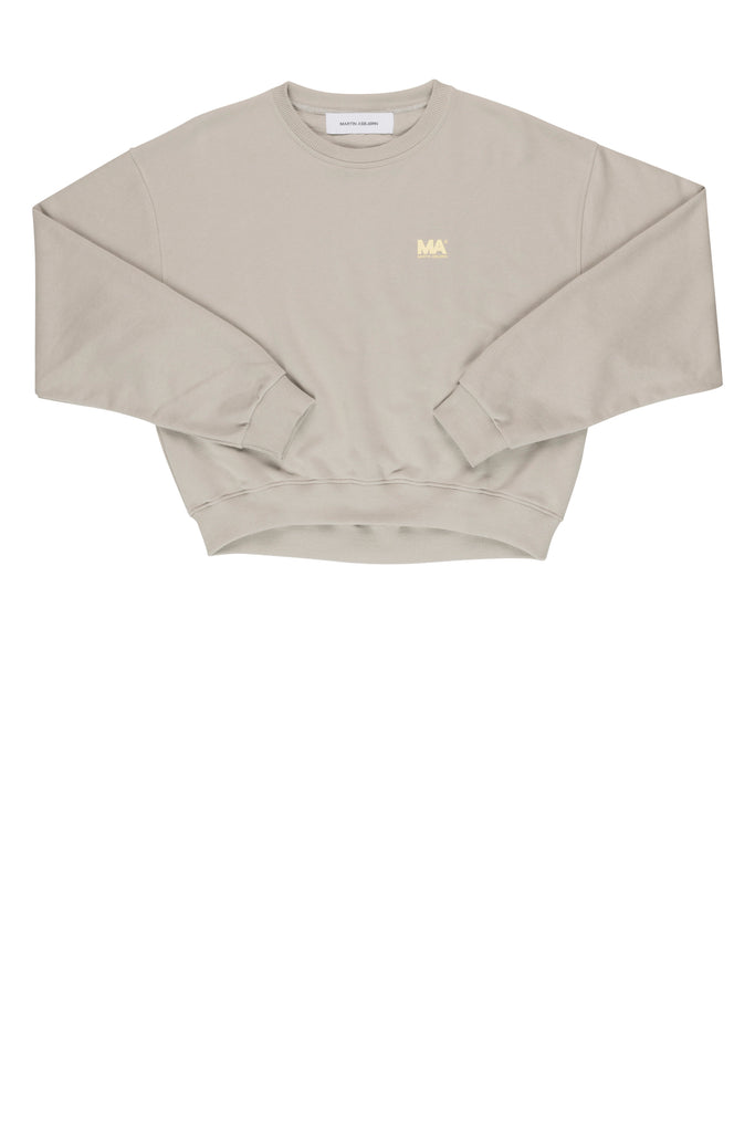 Andrew Cropped Sweatshirt / Stone grey