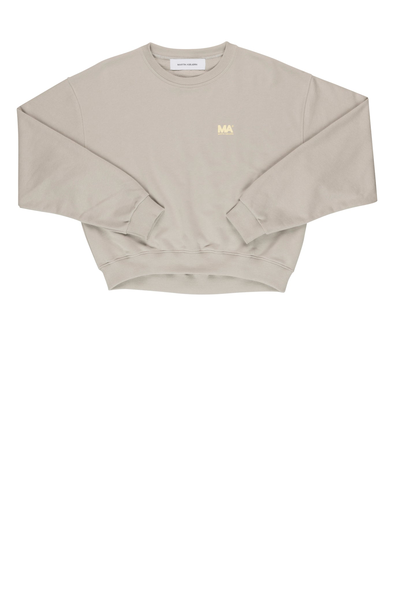 martin Asbjørn cropped stone sweatshirt for men and women