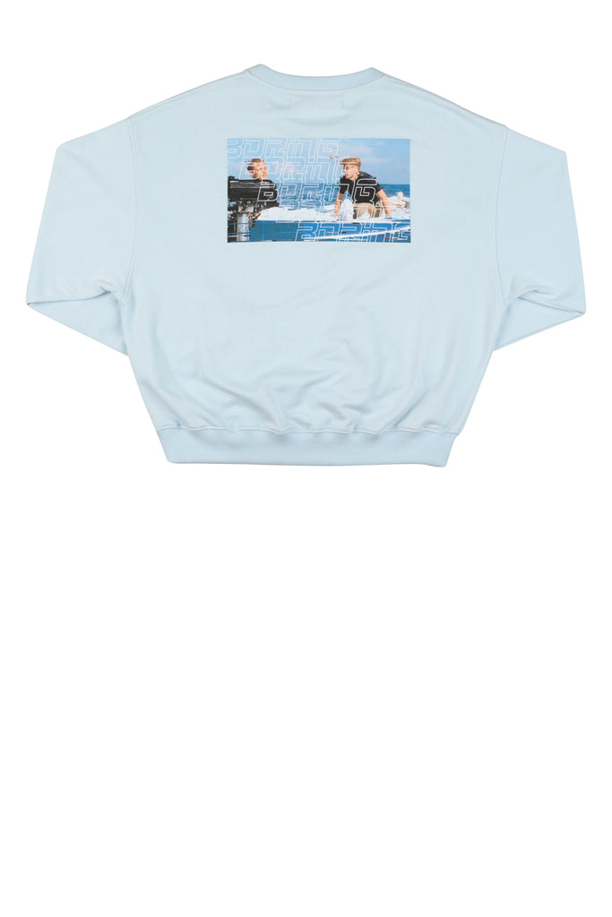 Andrew Cropped Sweatshirt / Balled Blue