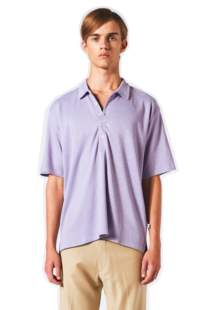 Brent Oversized Polo / Purple Haze