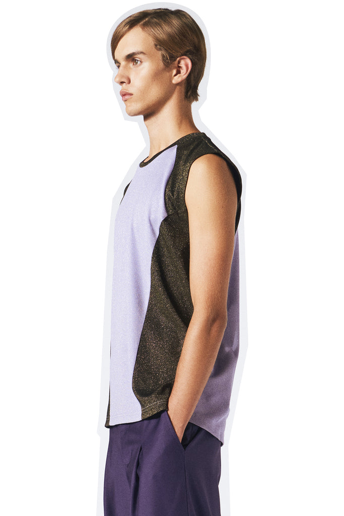 Brent Muscle Tank / Black- purple haze
