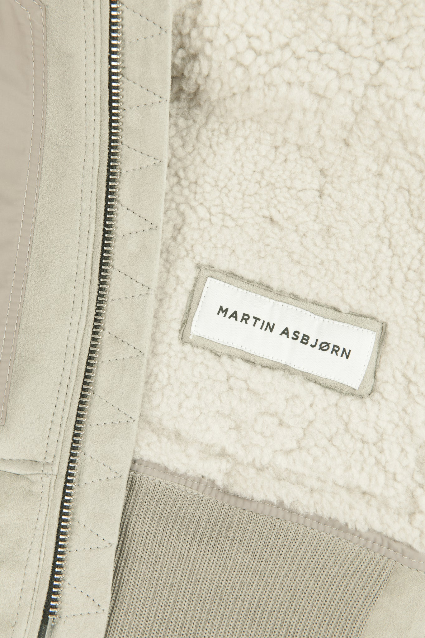 martin asbjørn fall winter 2017 shearling pilot bomber light sand