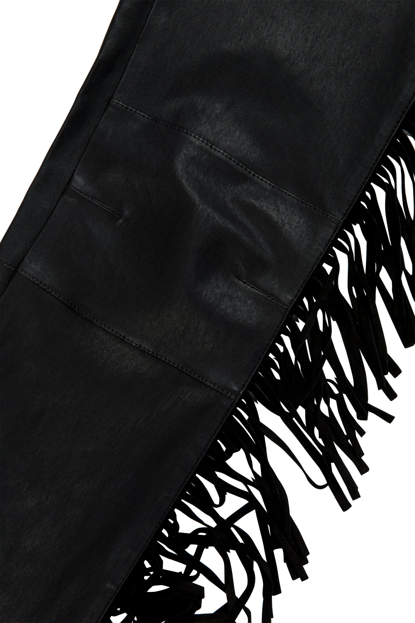 Martin Asbjorn Slim-fit Fringe Leather Jeans for men Menswear martinasbjorn