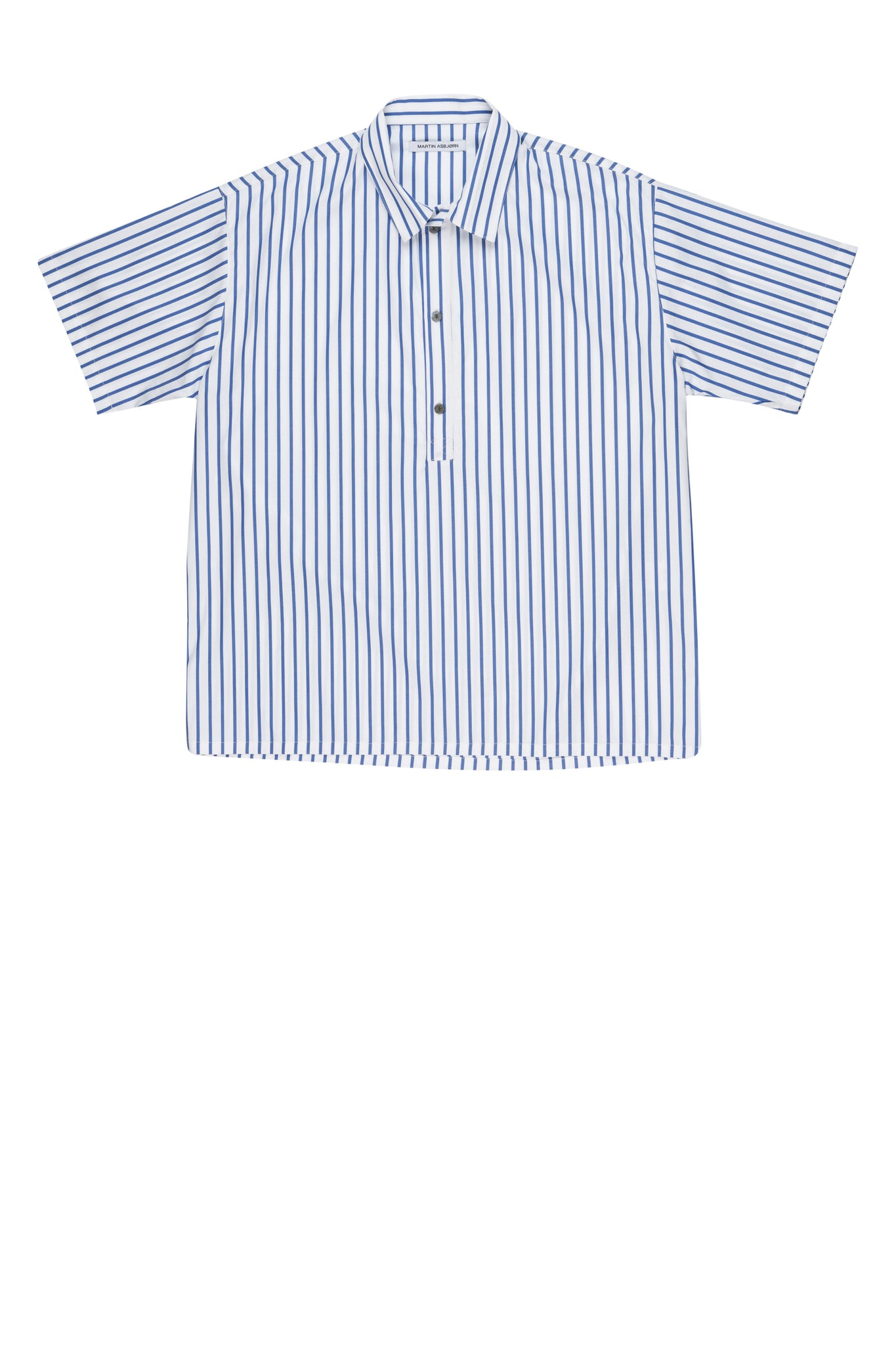 martin asbjørn ma cotton shirt menswear ss20 spring20 big blue stripes