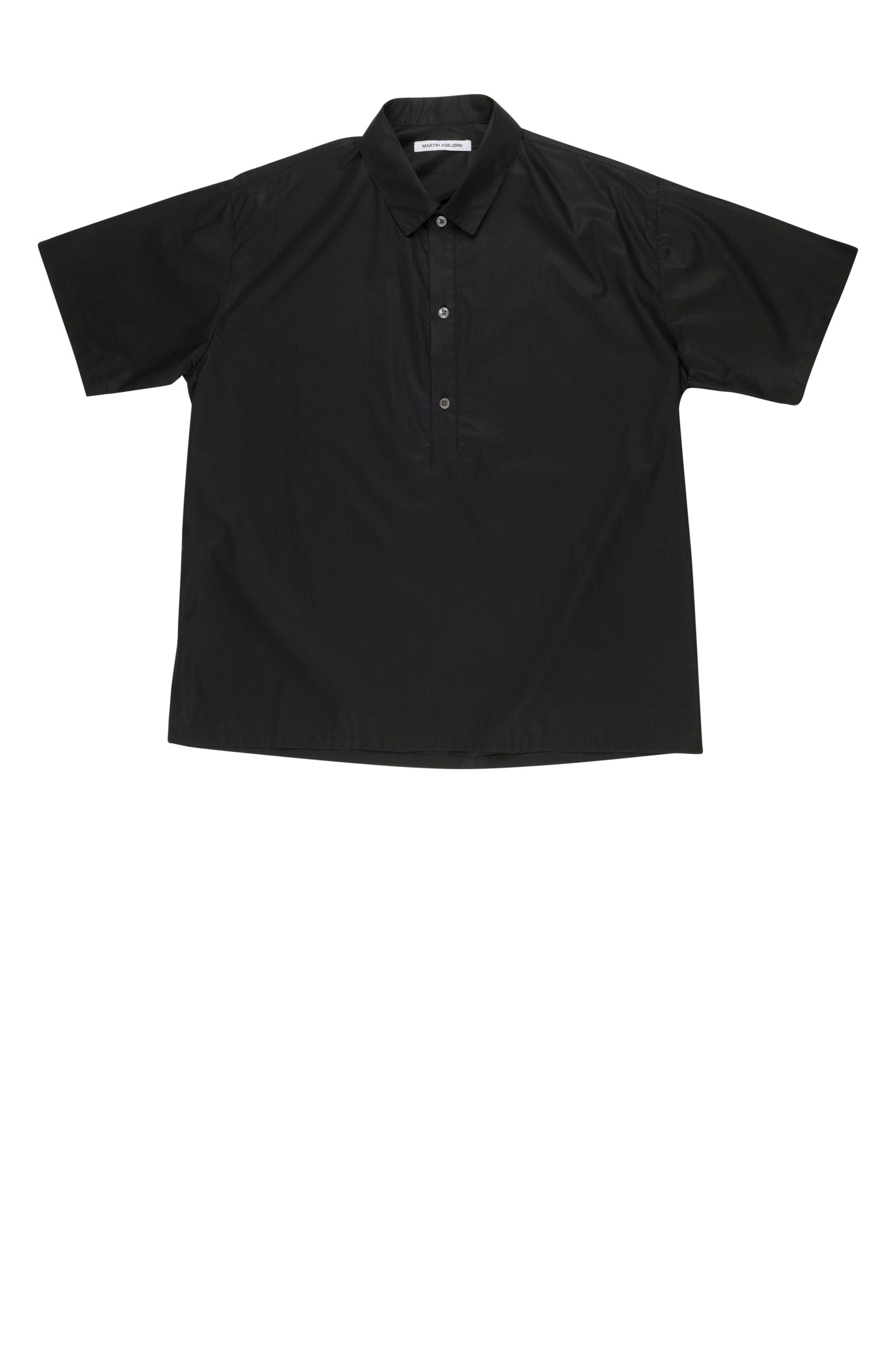 Martin Asbjorn Greenleaf shirt in black poplin ss20 menswear