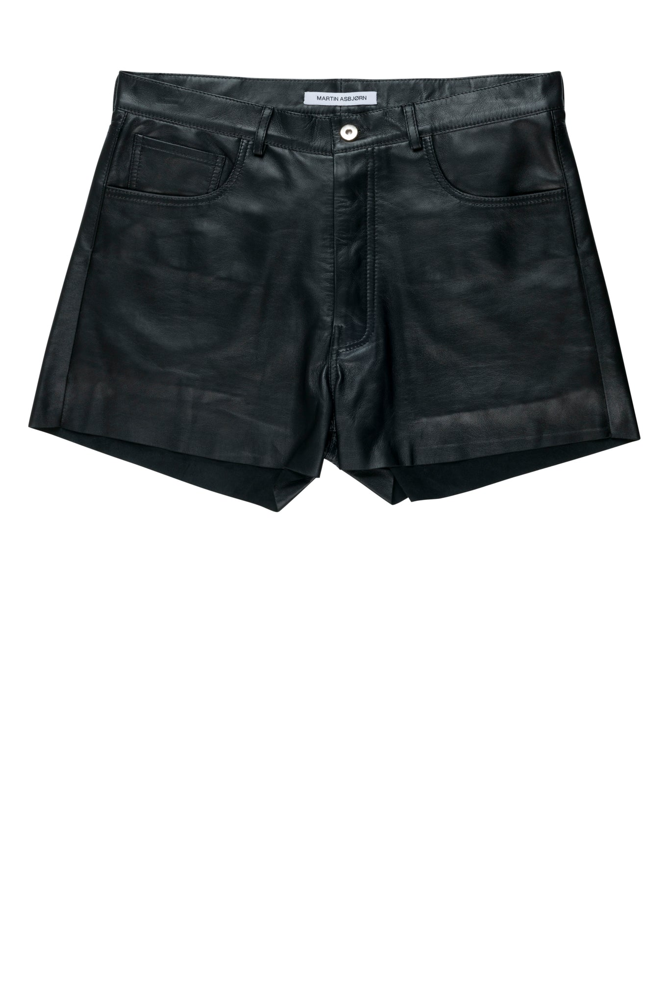 martin asbjørn ma menswear ss20 spring20 napa leather shorts cinch strap detail