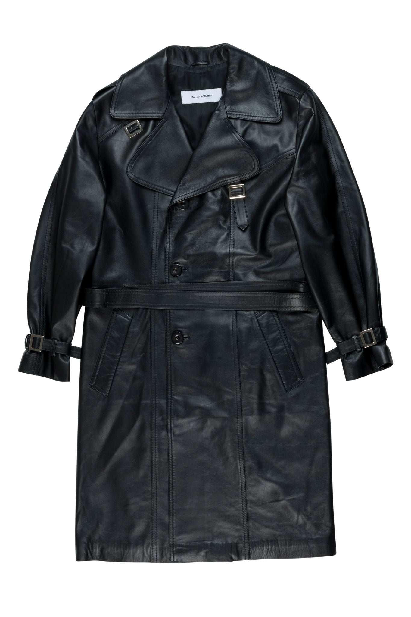 martin Asbjorn ma black trenchcoat leather ss20 spring20 menswear unisex jacket