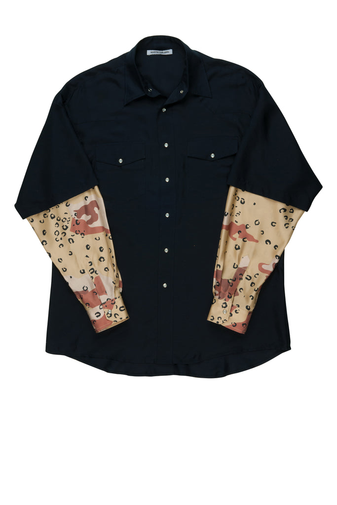 Jeremy Silk Shirt / Navy