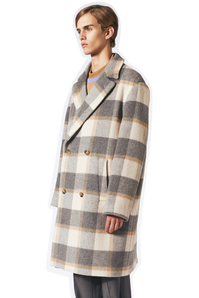 Keith Coat / Grey-Sand check
