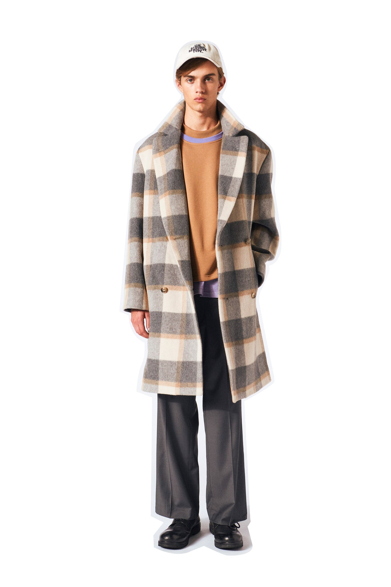 Keith coat Martin Asbjorn grey and sand check