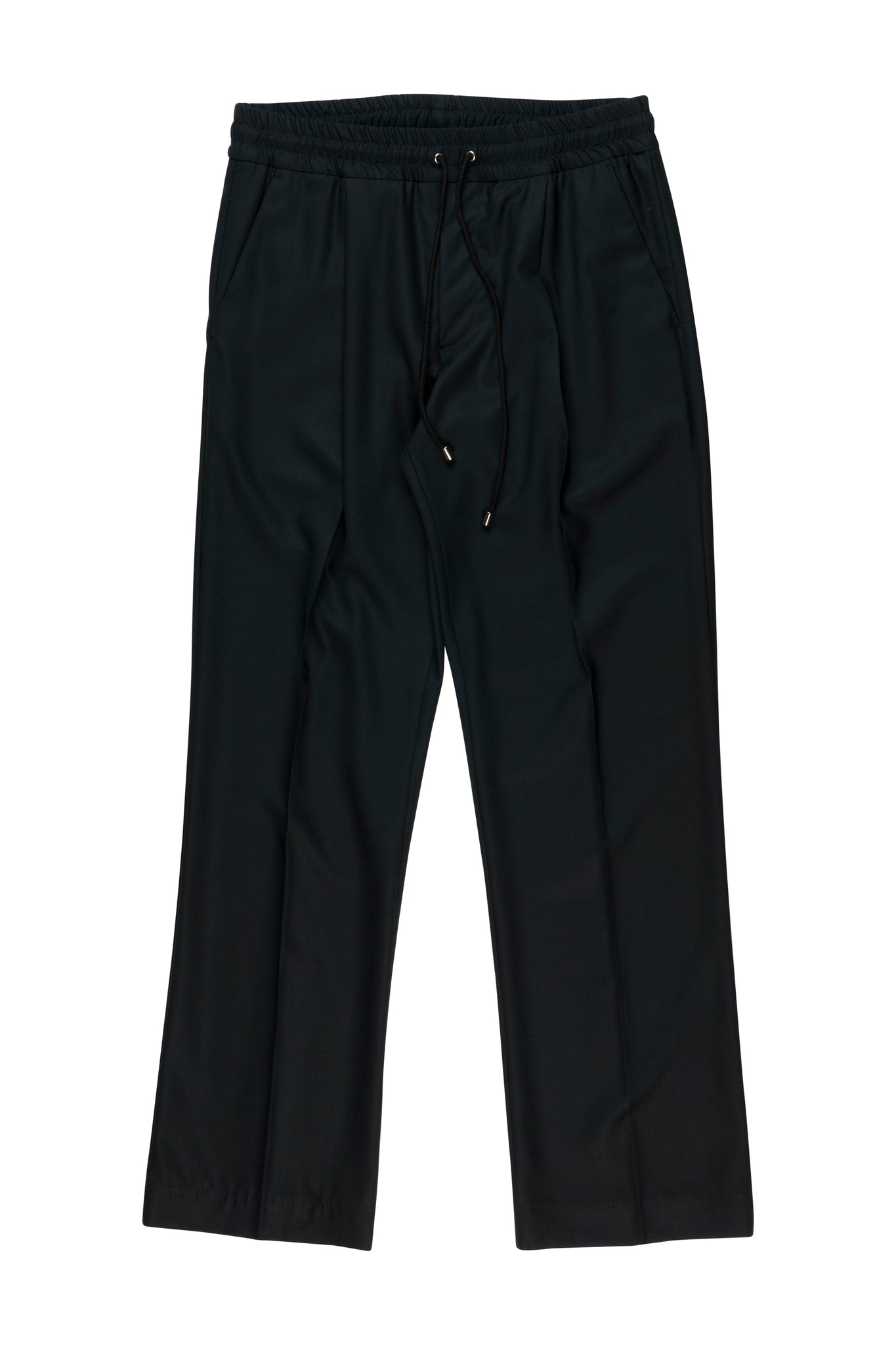 Martin Asbjørn signature drawstring pants in black wool for men