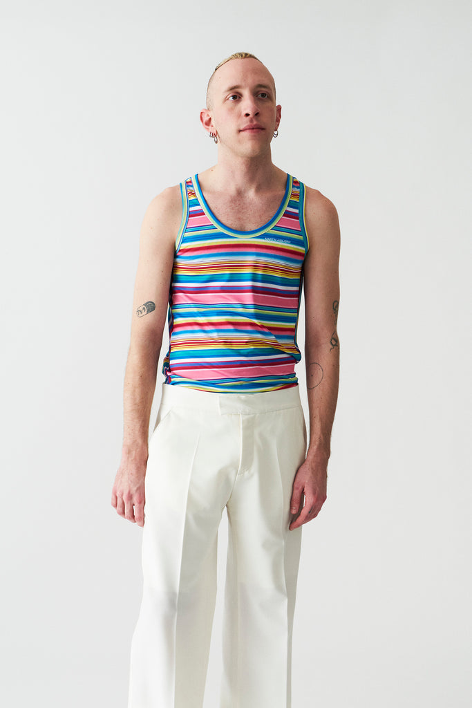 Luke swim tank-top / Stripes