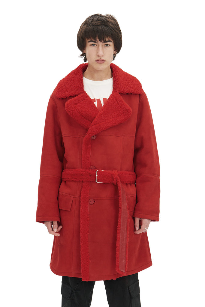 Shearling Coat / Red