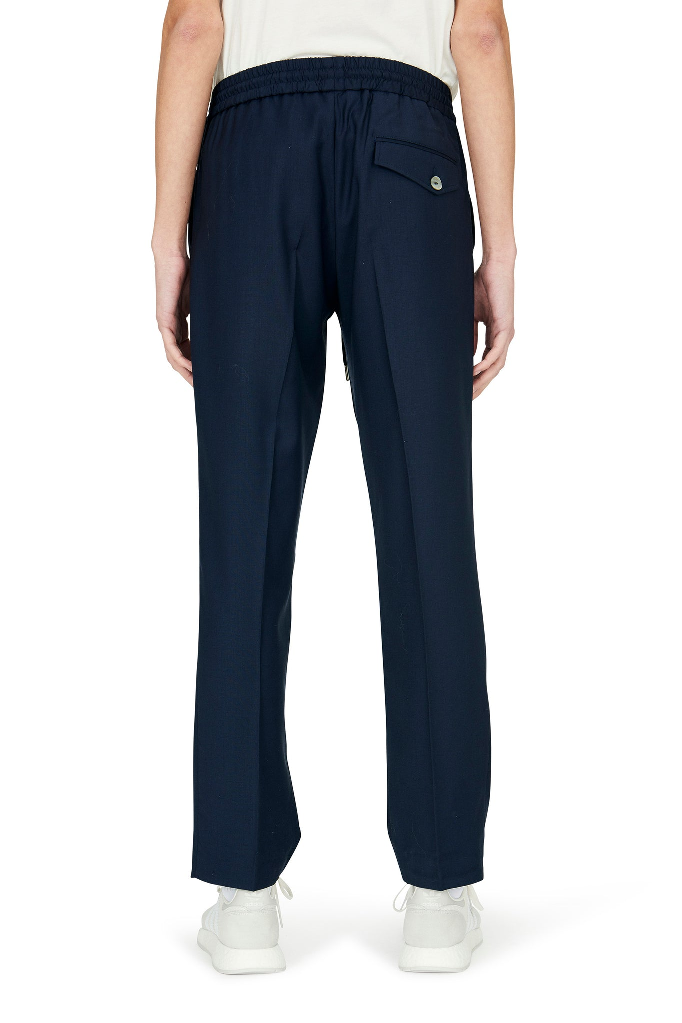 Martin Asbjørn Signature drawstring pants in lightweight summer wool NAVY