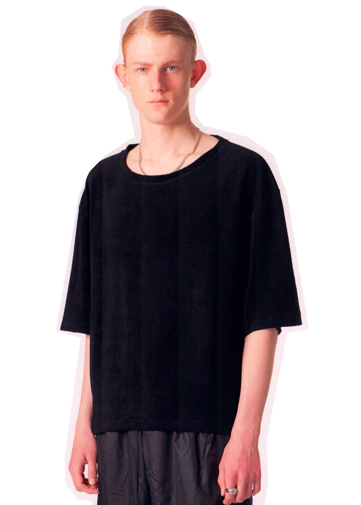 Terry Cotton Tee / Black