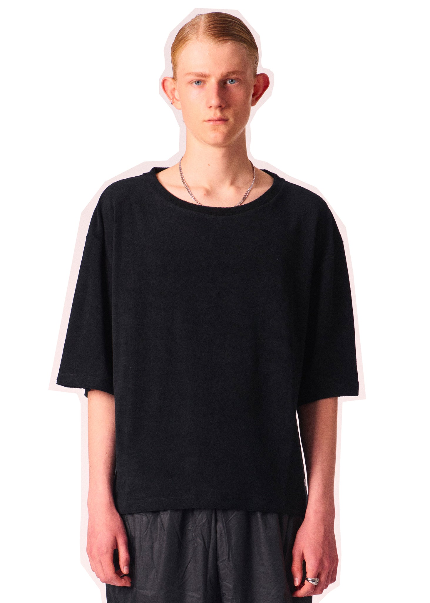 Terry Cotton Tee Black Martin Asbjørn
