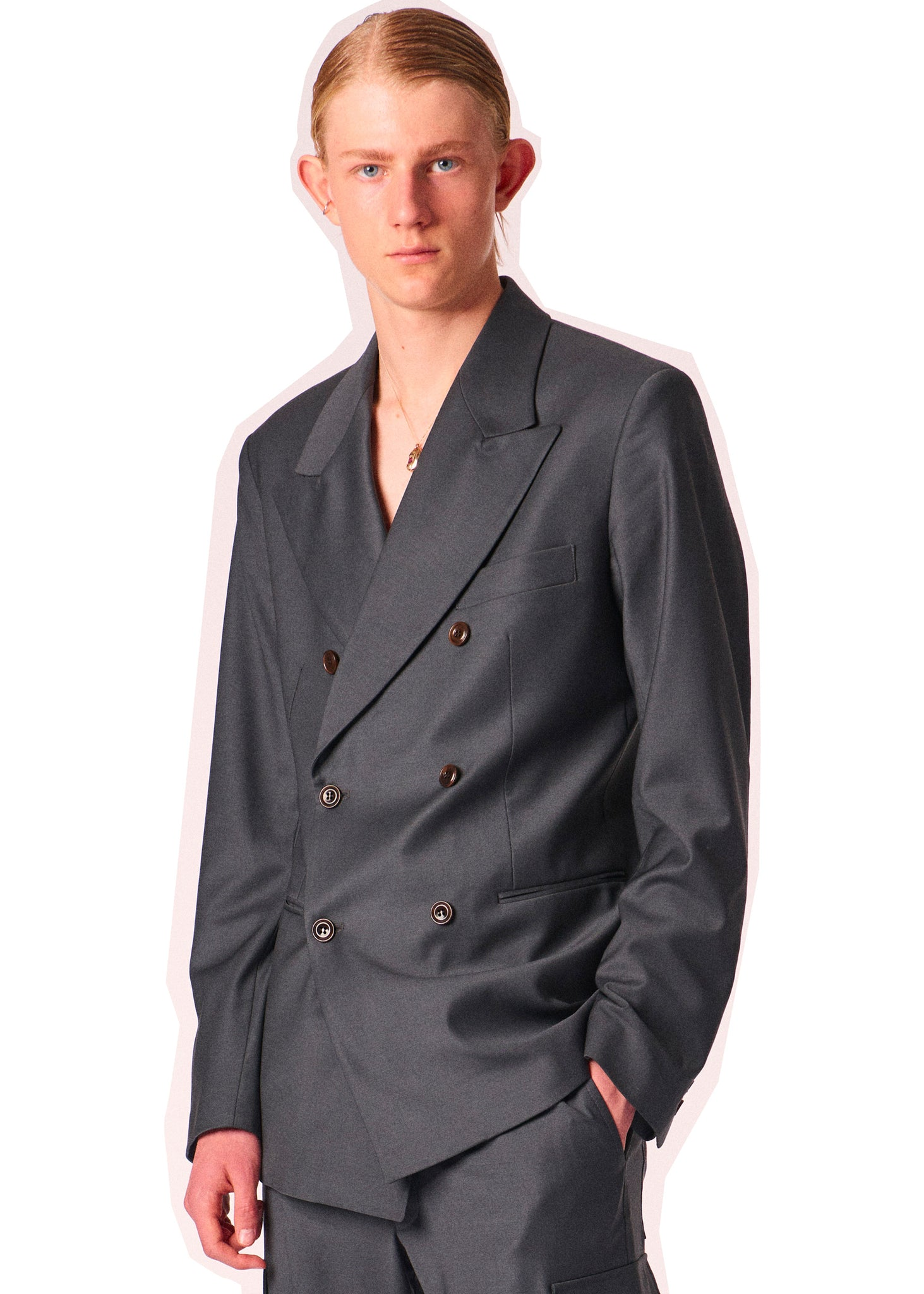Martin Asbjørn ken blazer in dark grey