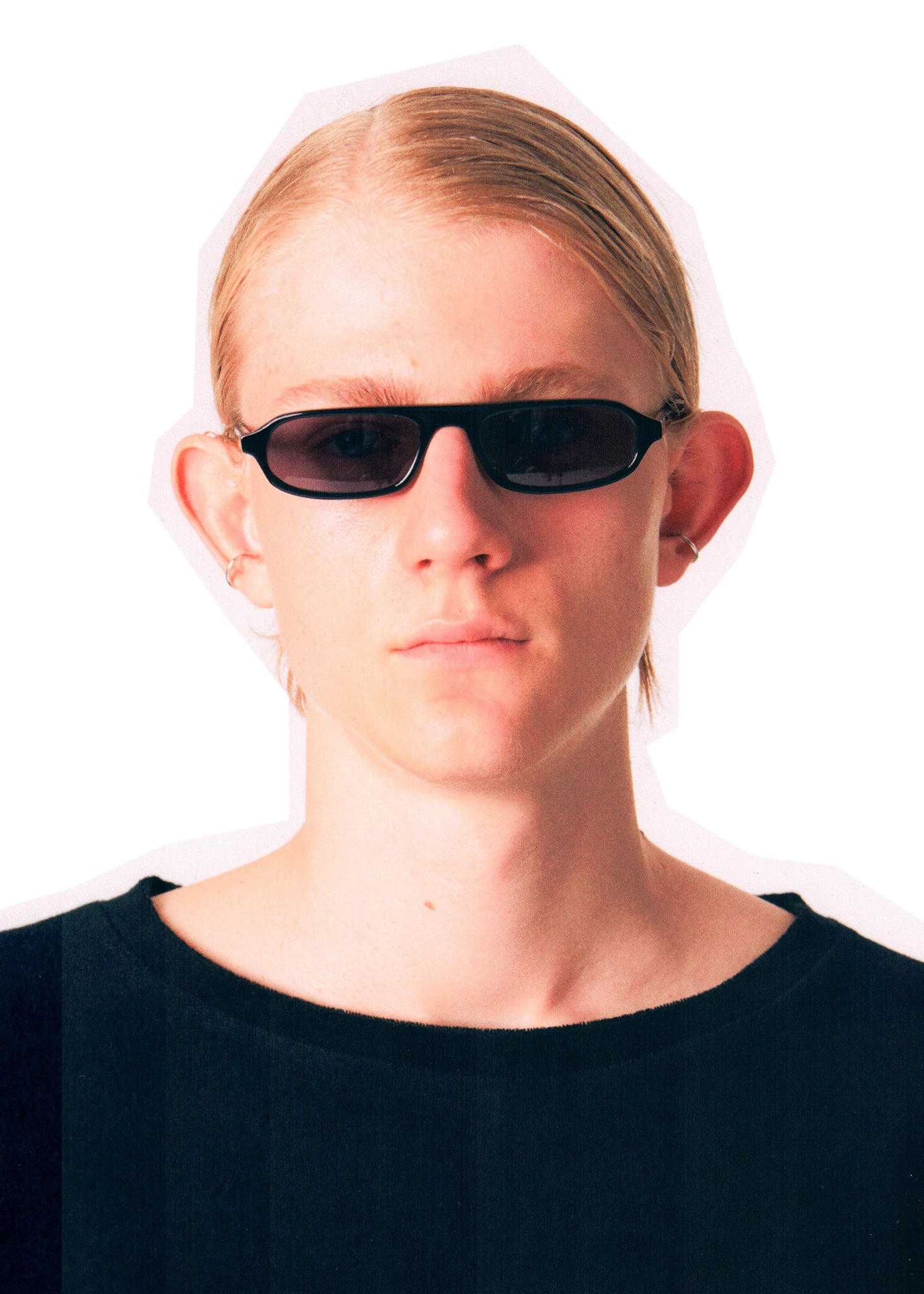 Martin Asbjørn Black Sunglasses