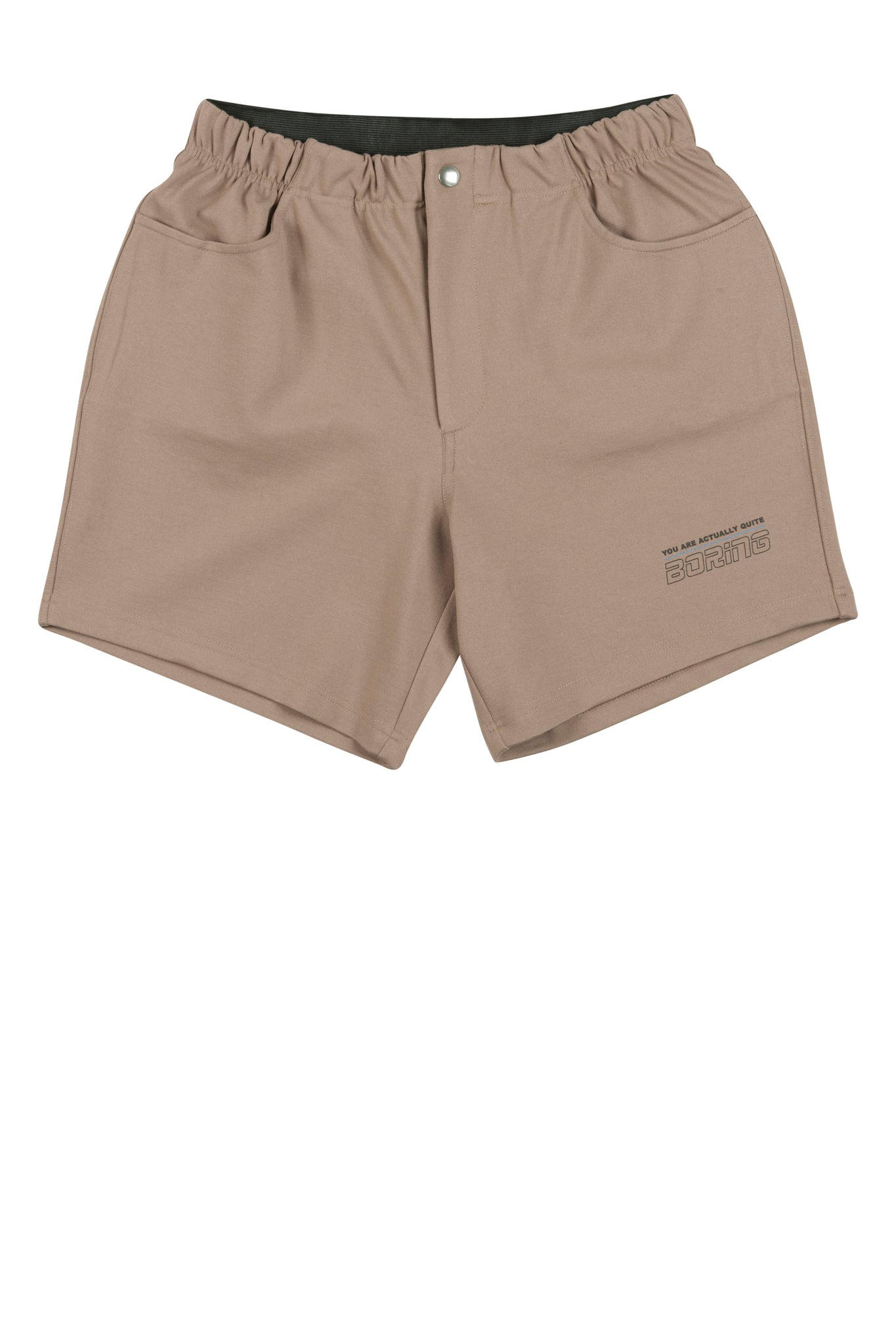 80ties mens tennis shorts from Martin Asbjørn in camel brown with boring print ma