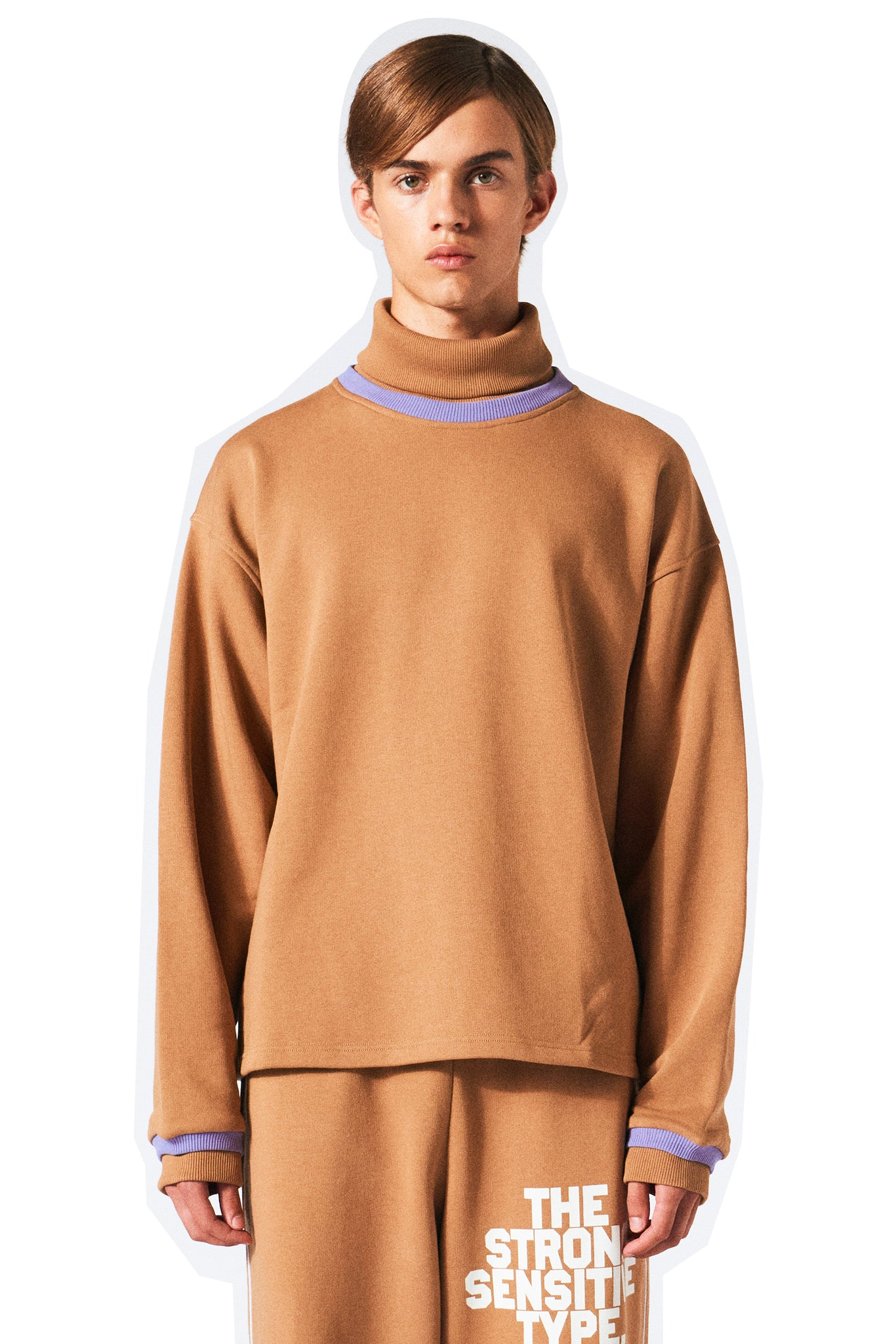 Martin Asbjørn Asbjorn brown sweatshirt with turtleneck