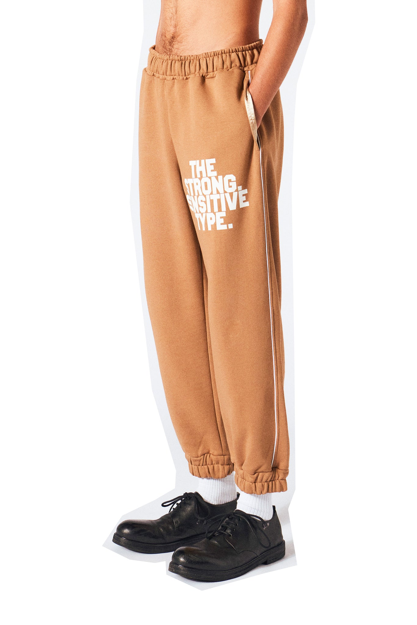 brown sweatpants from Martin Asbjorn the strong sensitive type