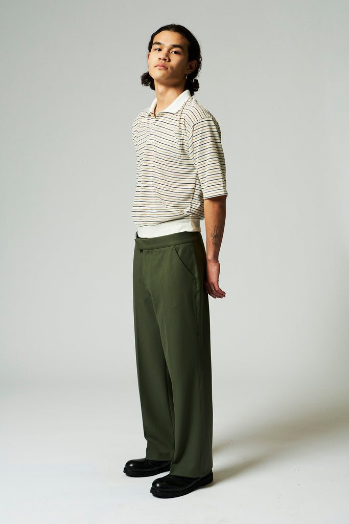 Parker Tuxedo Trousers / Olive