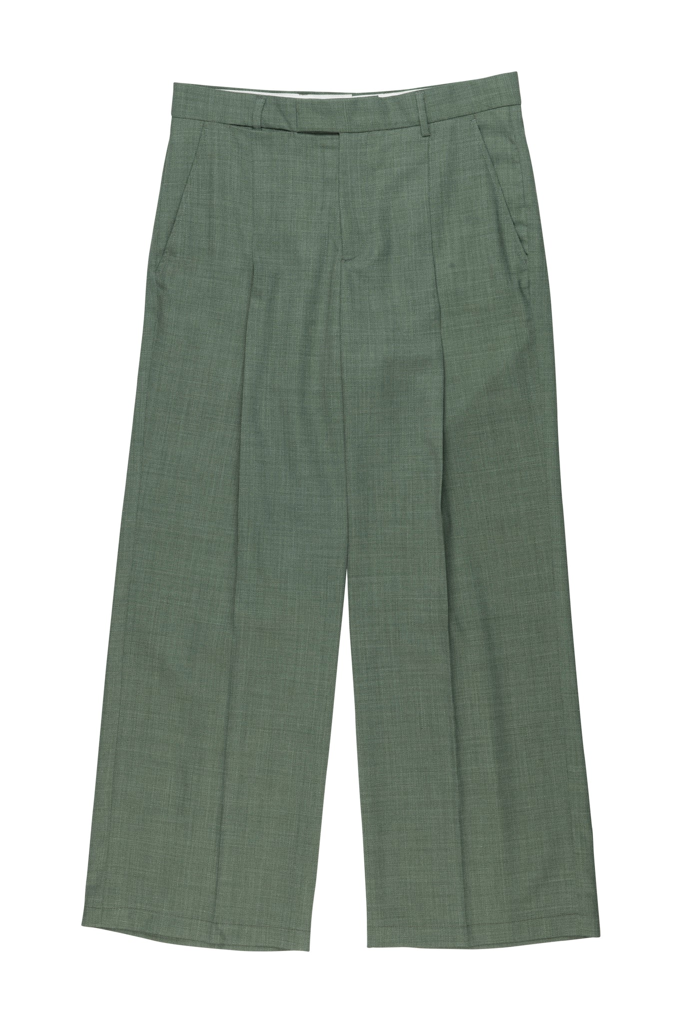 Trupo Trousers Sage green from designer Martin Asbjorn