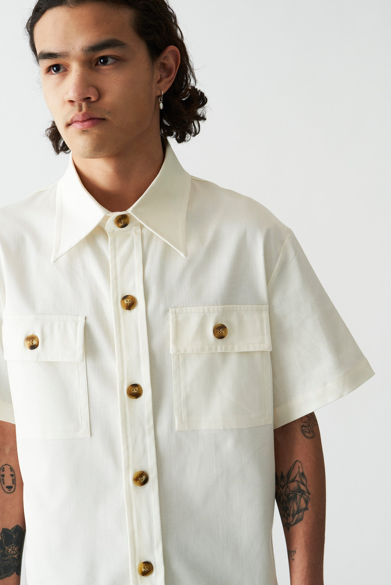 Martin Asbjorn Willy Shirt off white