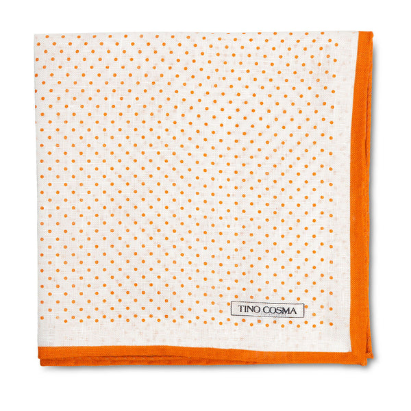 Pocket square | dots / orange