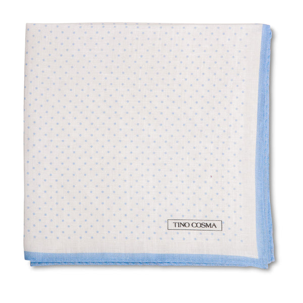 Pocket square | dots / light blue