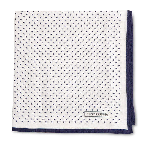 Pocket square | dots / navy blue