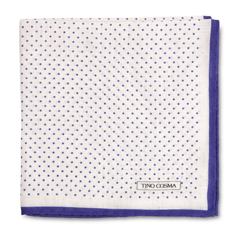 Pocket square | dots / violet