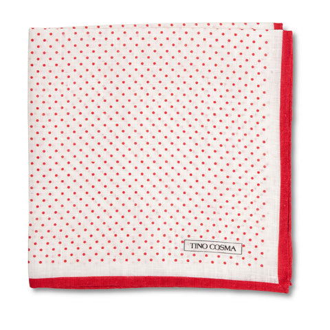 Pocket square | dots / red