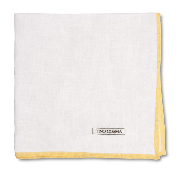 Pocket Square | plain / yellow