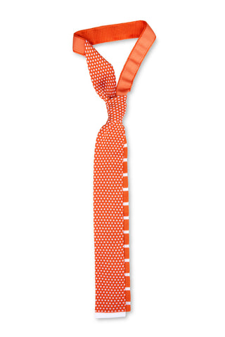 Tino Cosma cotton tie / orange