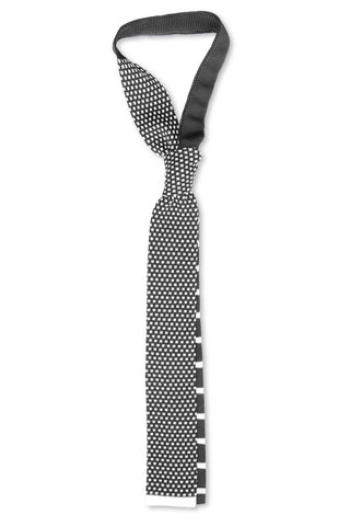 Tino Cosma cotton tie / dark grey