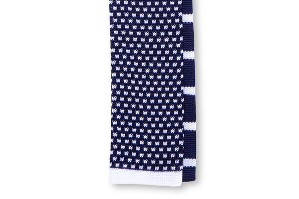 Tino Cosma cotton tie / dark blue