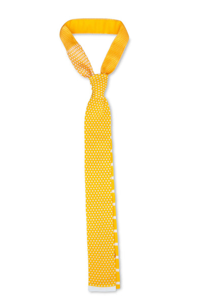 Tino Cosma cotton tie / yellow