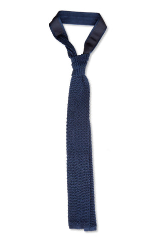 Tino Cosma Knitted tie / navy blue